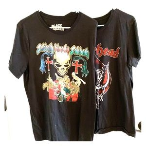 Lot of 2 Rock T-shirts Black Sabath & Motorhead